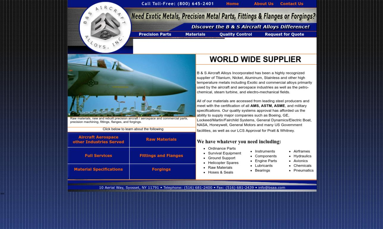 B & S Aircraft Alloys, Inc.