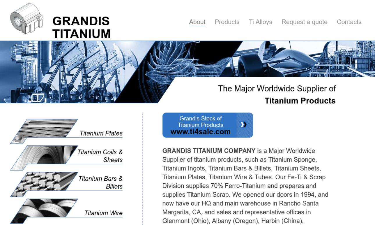 More Titanium Supplier Listings