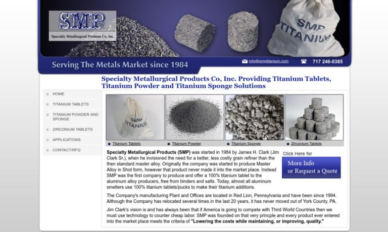 Specialty Metallurgical Products