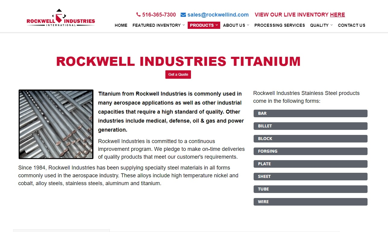 Rockwell Industries International Corporation