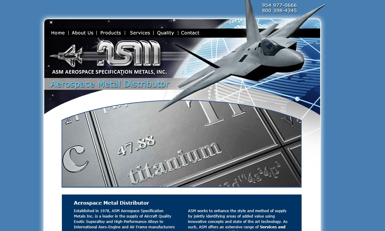 ASM Aerospace Specification Metals, Inc.